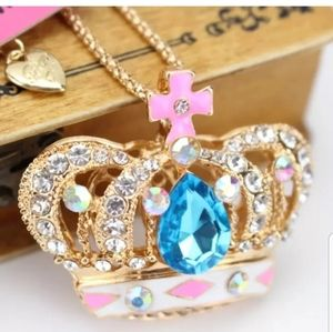 New-Crystal, Rhinestone, Crown Necklace